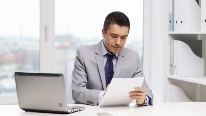 accountant is reading document YouTube Thumbnail template