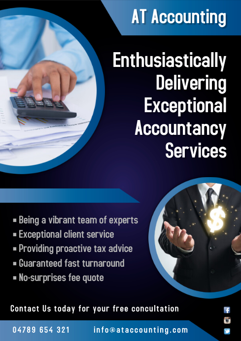 Accountant's Flyer A4 template