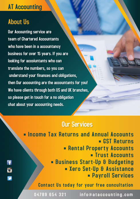 Accountant Services Company Flyer Template | PosterMyWall