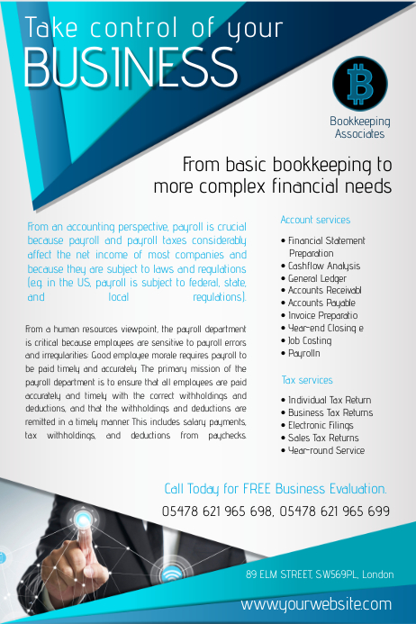 Accountants Company Flyer Poster template