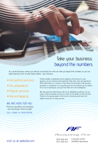 Accountants Flyer