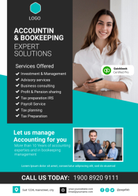 accounting & bookeeping A4 template