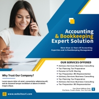 Accounting and Bookkeeping Persegi (1:1) template