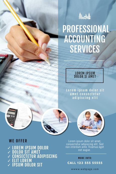 Accounting Service Business Flyer Template Plakat