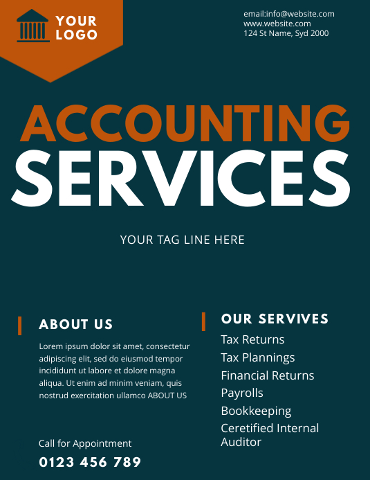 ACCOUNTING service flyer