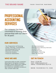 Accounting Service Flyer template