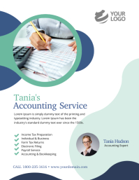 Accounting Service Flyer Poster Ad Template