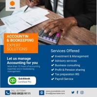 accounting services Publicação no Instagram template