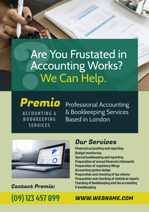 Accounting Services Flyer A4 template