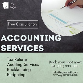 Accounting services video template Square (1:1)