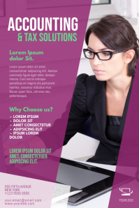 Accounting tax service filter template
