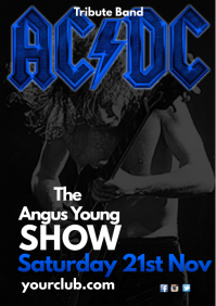 ACDC Tribute Show Flyer