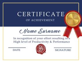 Achievement Certificate Flyer Template