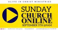 ACHURCH LIVE ONLINE SERMON TEMPLATE Capa para evento do Facebook