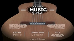 ACOUSTIC FESTIVAL VIDEO AD Digital Display (16:9) template