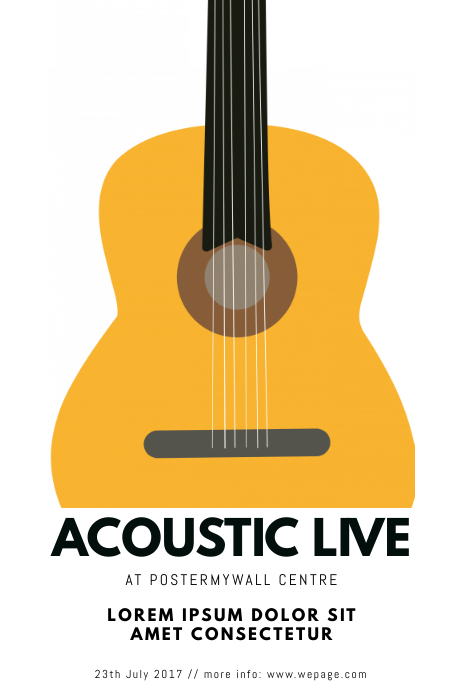 acoustic guitar event flyer template postermywall
