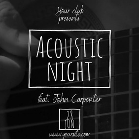 Acoustic Night artistic guitar video