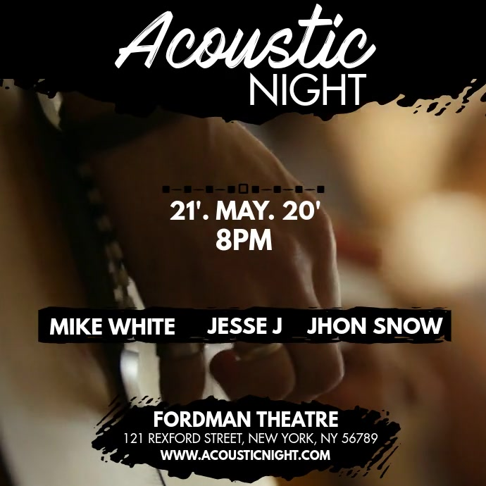ACOUSTIC NIGHT Vierkant (1:1) template