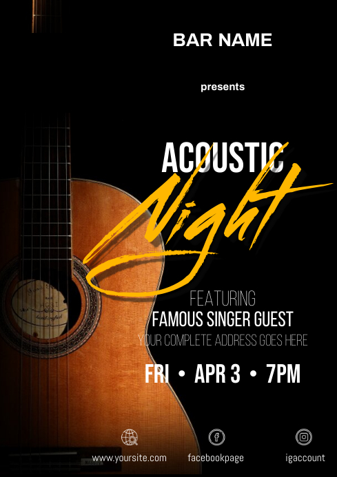 Acoustic Night Flyer A4 template
