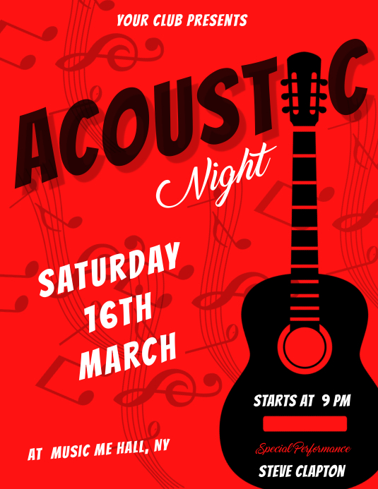 acoustic night flyer template