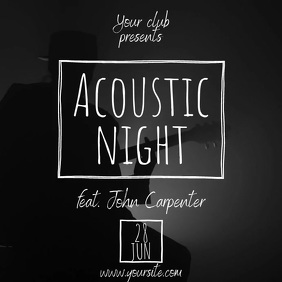 Acoustic Night guitar video instagram template