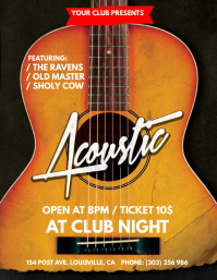 Acoustic Nights Flyer Template