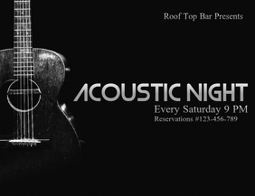 Acoustic Poster Template