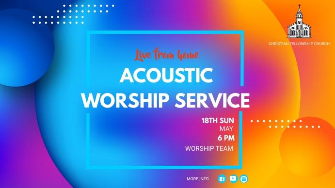 ACOUSTIC WORSHIP Fotografia de capa do canal do YouTube template