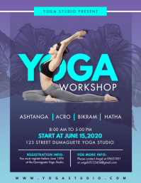 Acroyoga Class for Ladies Workshop Flyer