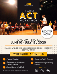 Acting and Dramatics Workshop Flyer