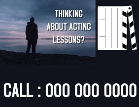 ACTING LESSONS FLYER