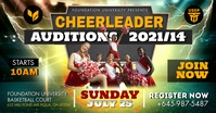 Action Themed Cheerleader Auditions Facebook template