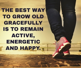 ACTIVE AND HAPPY QUOTE TEMPLATE Medium Rectangle
