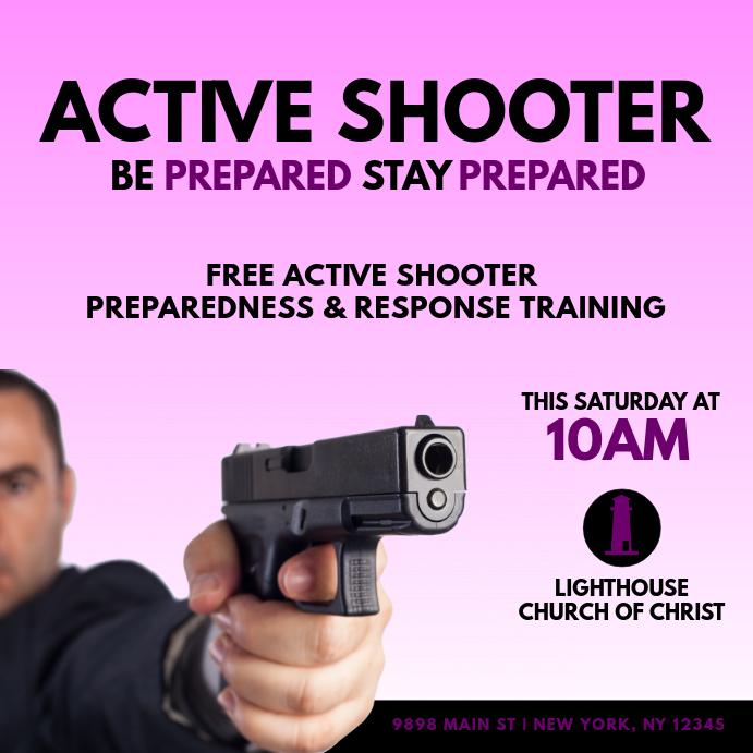 active shooter training customize template
