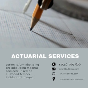 ACTUARIAL SERVICES FLYER Square (1:1) template