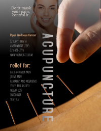 Acupuncture wellness flyer