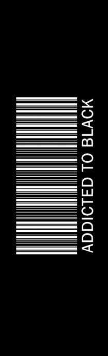 Addicted to Black Bookmark
