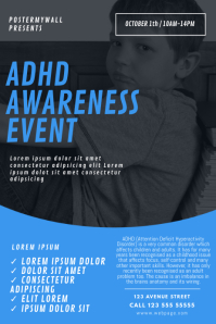 ADHD Awareness Month Event Flyer Template