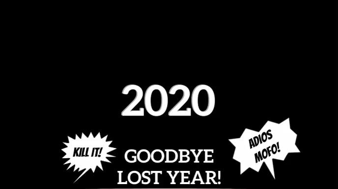 ADIOS 2020! (& GOOD RIDDENCE)! Digitalt display (16:9) template