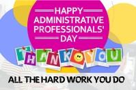 Administrative Day Etiqueta template