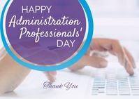 administrative Professionals day Открытка template
