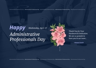 Administrative Professionals Day Postcard template