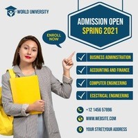 Admission flyer Template Instagram Post