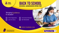Admission flyer Template Twitter-bericht