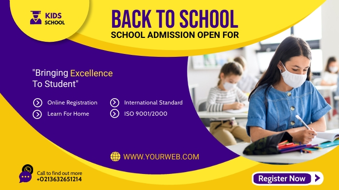 Admission flyer Template Twitter 帖子
