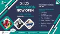 Admission flyer Template Facebook Cover Video (16:9)