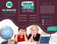 Admission Open new student intake trifold bro Iflaya (Incwadi ye-US) template