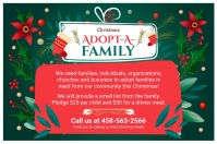 Adopt a Family for Christmas Green Affiche template