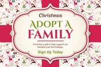 Adopt a Family for Christmas Online Invitatio Poster template