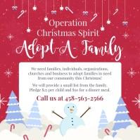 Adopt a Family for Christmas Snowfall Сообщение Instagram template